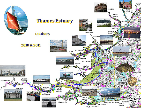 Thames Estuary cruises 2010 & 2011